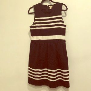 J.Crew Black and White Striped Dress